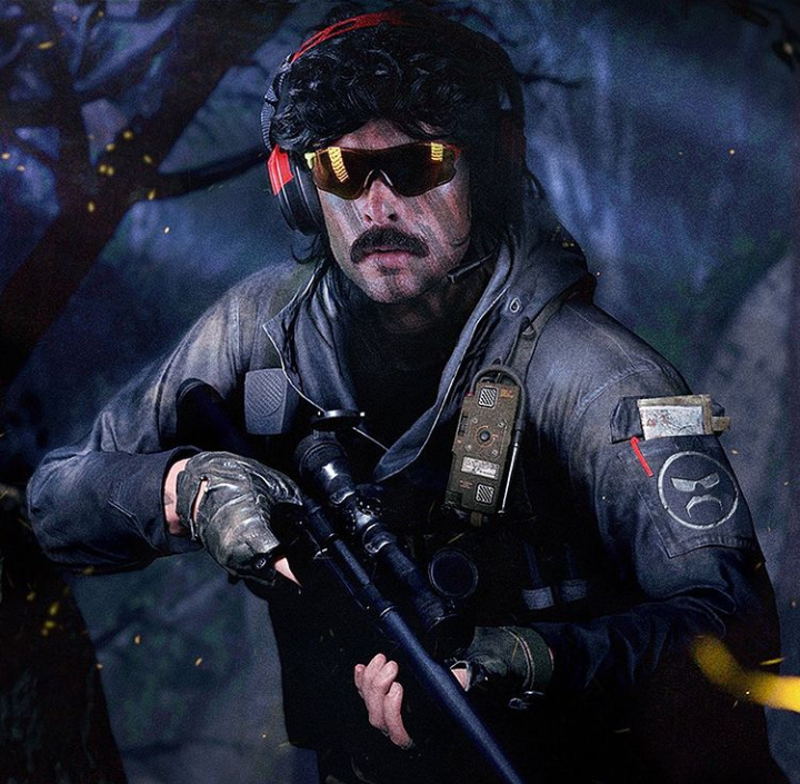 The professional gamer, Dr. Disrespect